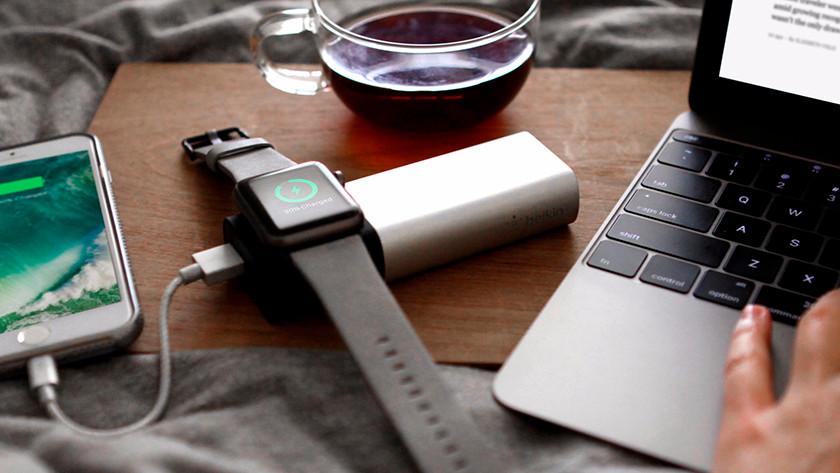 Overige producten opladen met powerbanks, zoals smartwatches