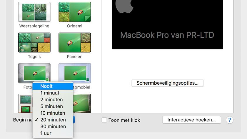 Désactiver l'économiseur d'écran Apple Macbook