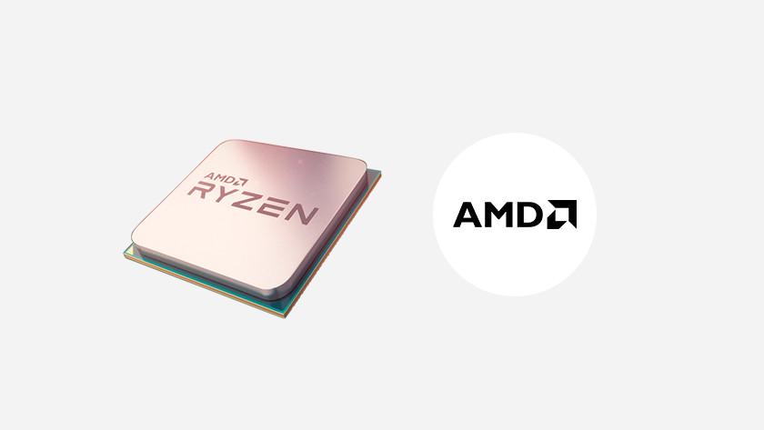 AMD Ryzen processor en AMD logo.
