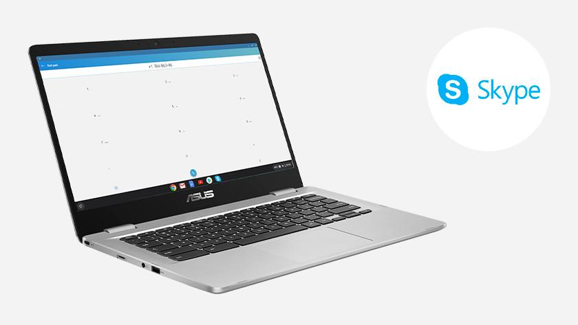 Skype op een Chromebook Asus