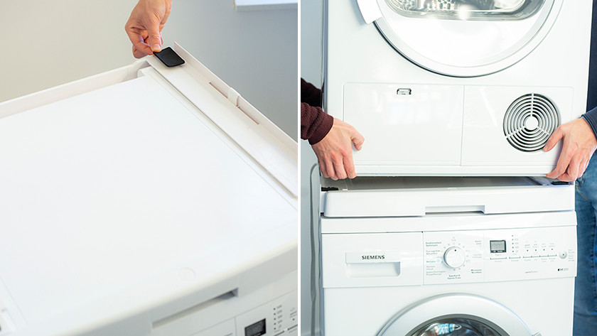 Dryer on washing machine