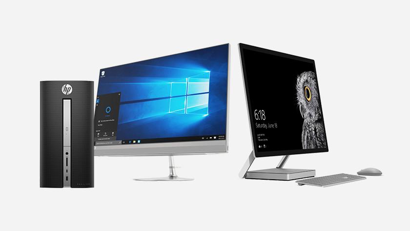 Different desktops side by side.
