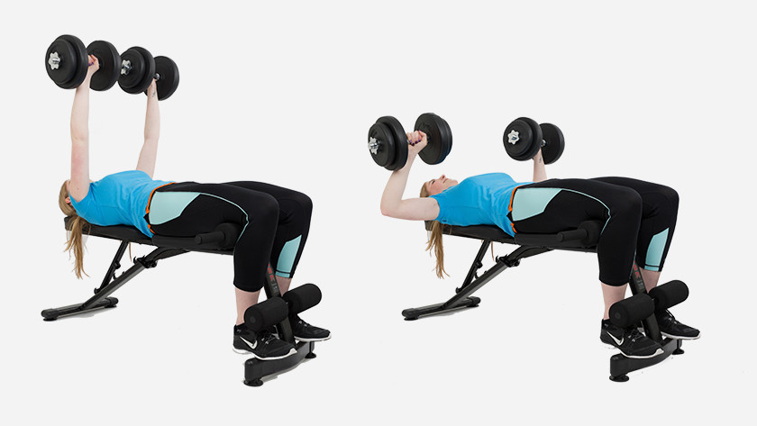 uitleg dumbbell bench press