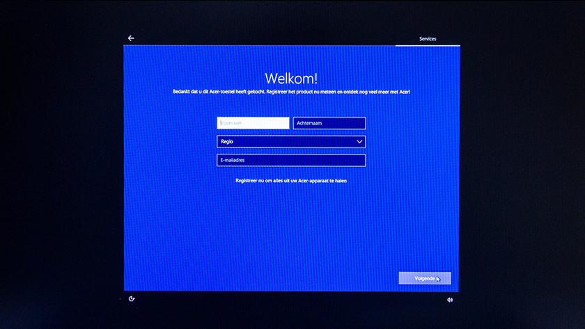 Registreer je product eventueel bij Acer.