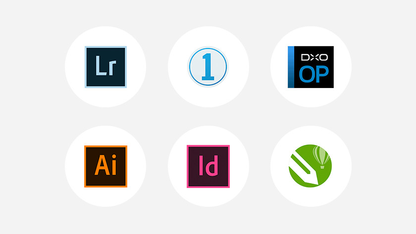 Different types of photo editing programs side by side.