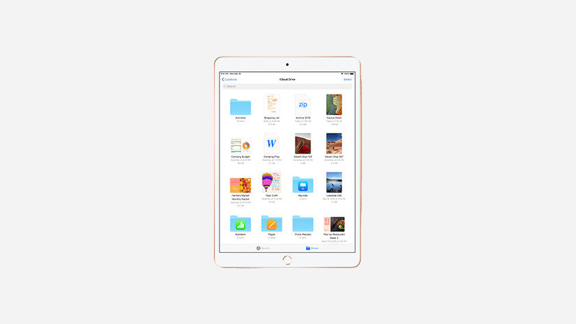 Manage documents on the iPad Air 2019
