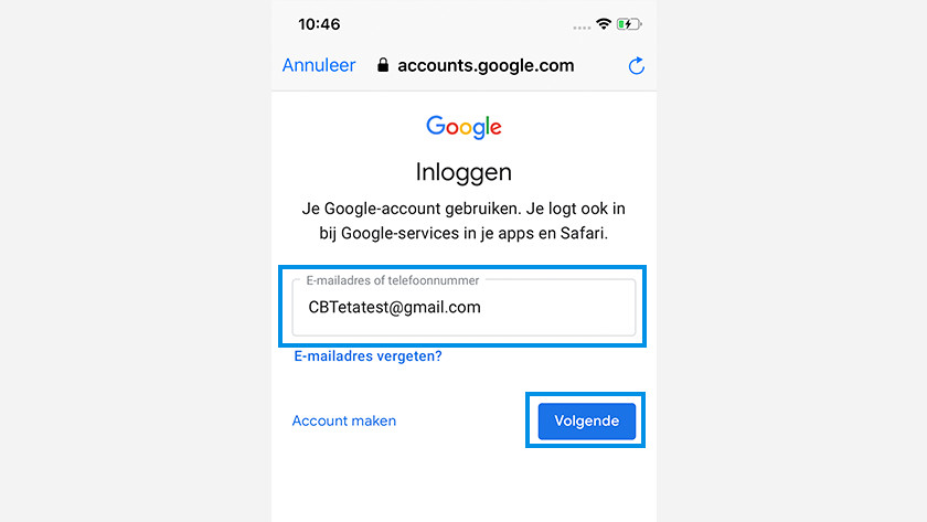 iOS to Android Google account