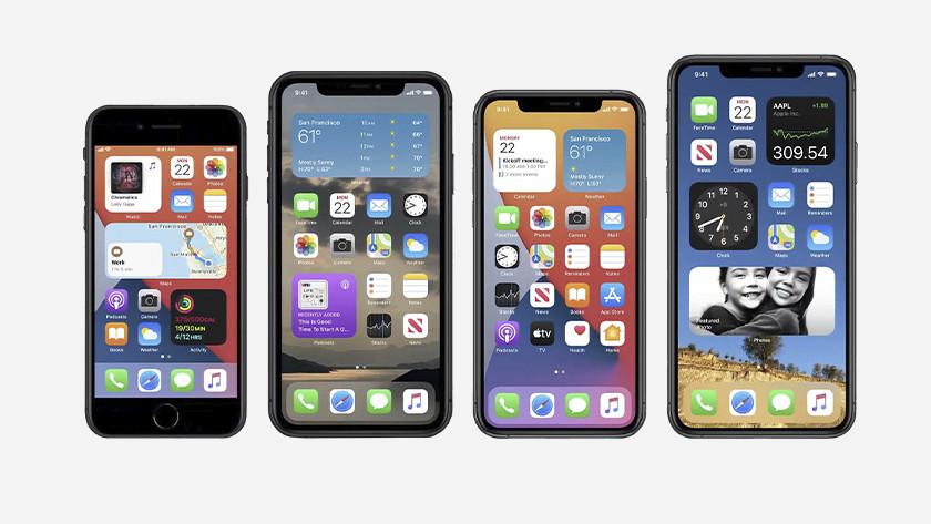 iOS 14 op iPhone en iPod