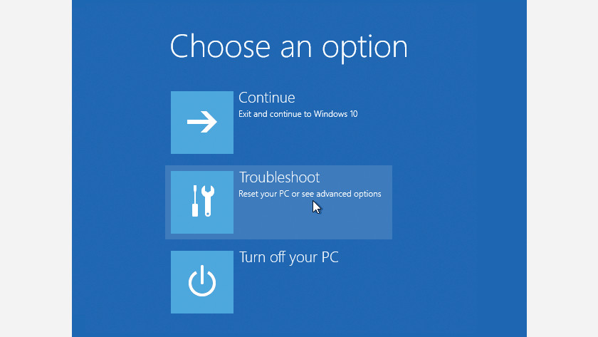 Go to the troubleshoot options.