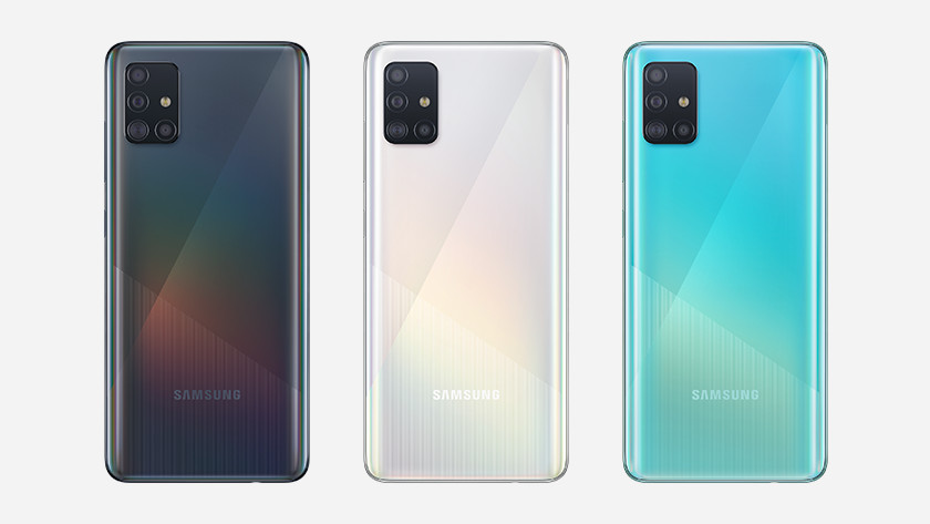Samsung Galaxy A51 line up geheugen
