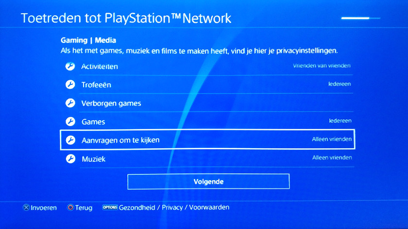 PSN account creatie stap 5