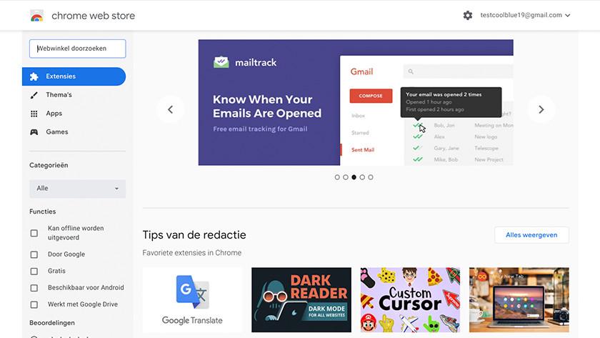 Open de Chrome Web Store.