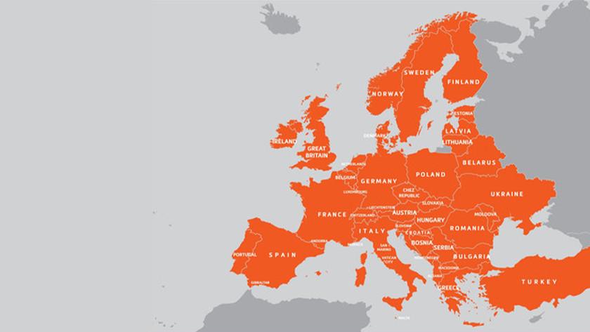 Kaartmateriaal Europa