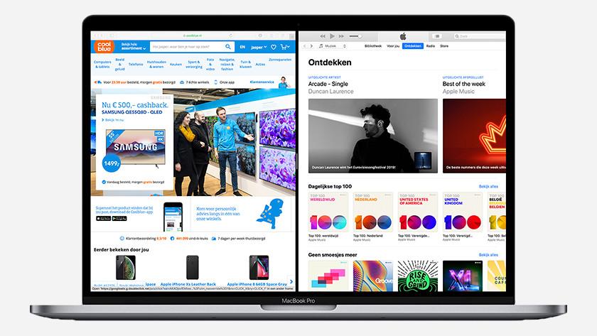 MacBook split screen