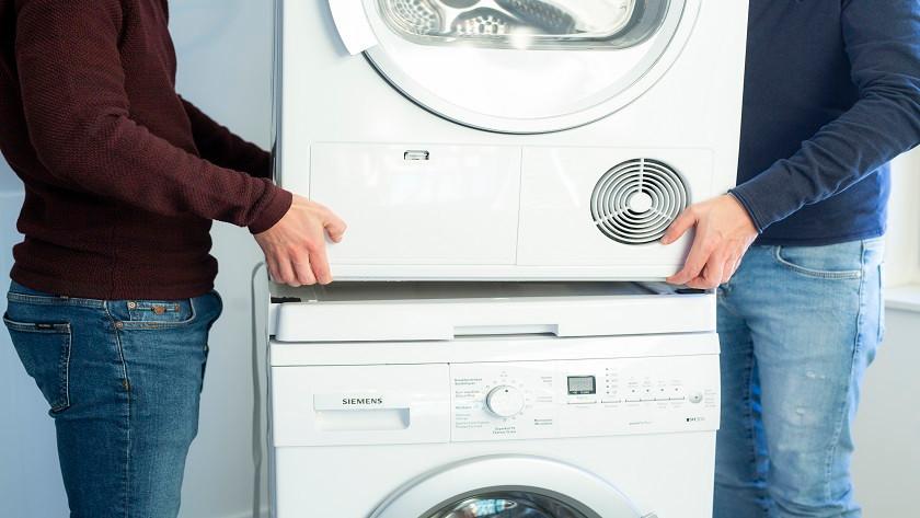 Droogkast op wasmachine