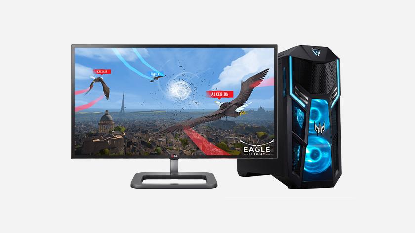 VR spel Eagle op desktop.