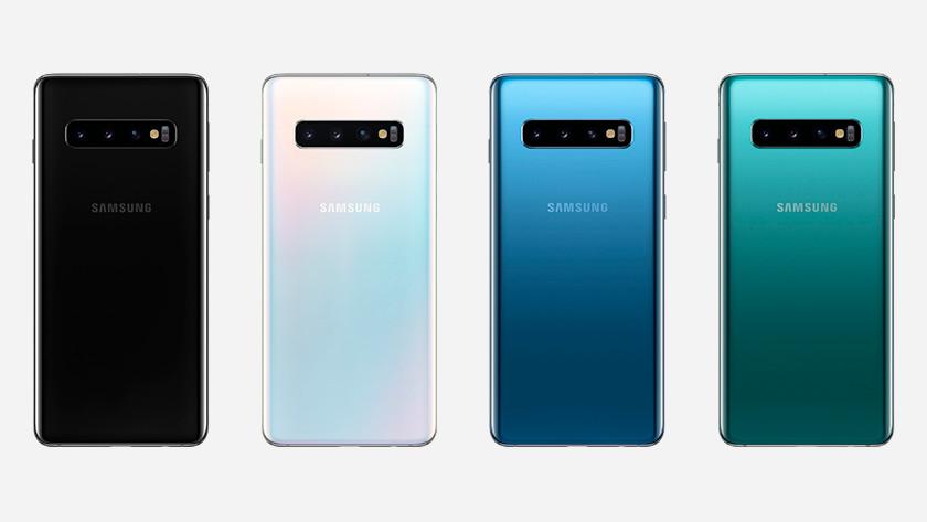 Samsung Galaxy S10 achterkant draadloos opladen