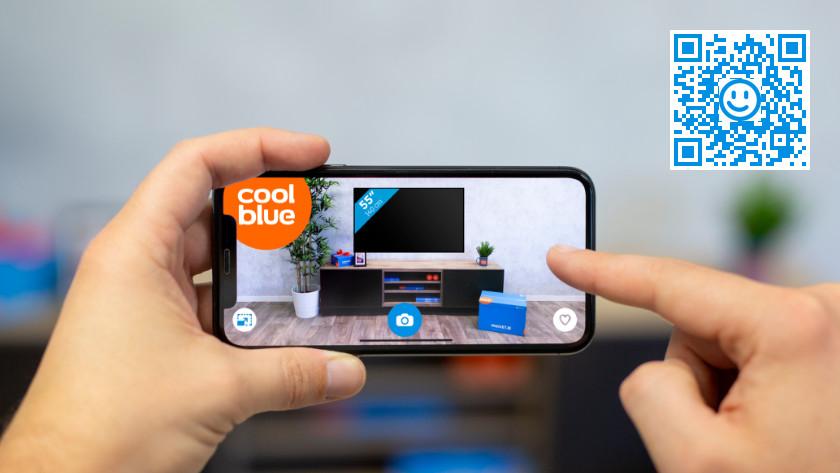 Bepaal het beste tv formaat met de augmented reality app van coolblue