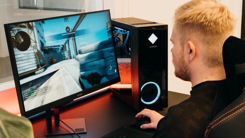 Een HP Omen desktop.