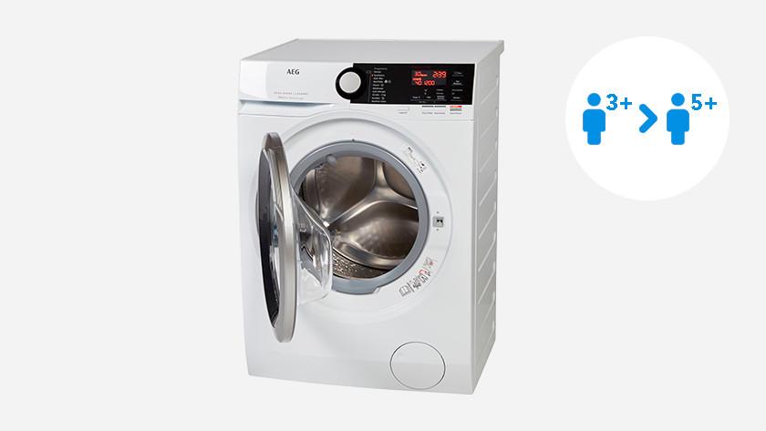 Wasmachine met 8 of 9 kilo vulgewicht