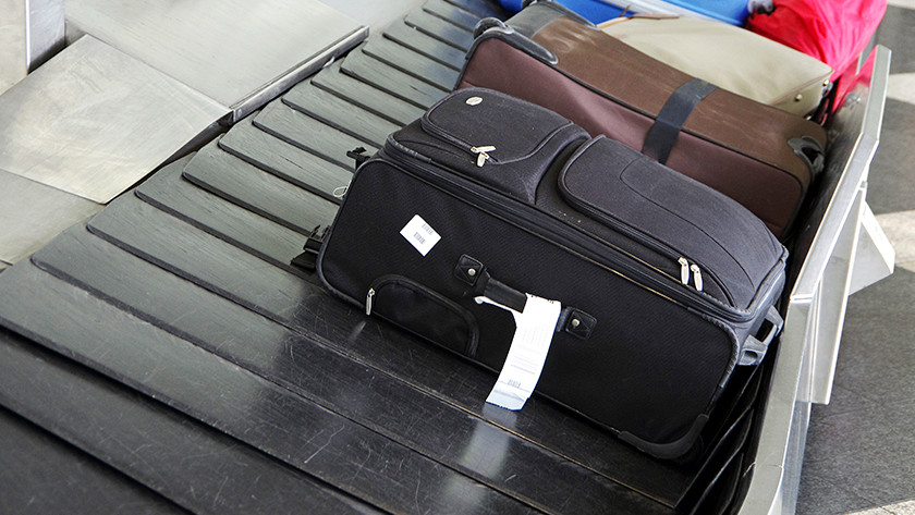 Traveling by plane soft suitcase