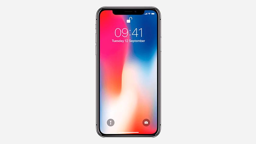 Het scherm iPhone X