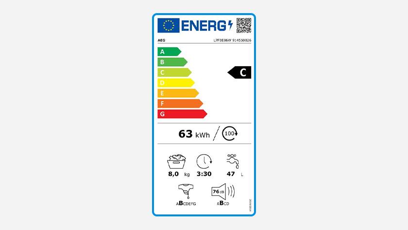 Energielabel met energieklasse C