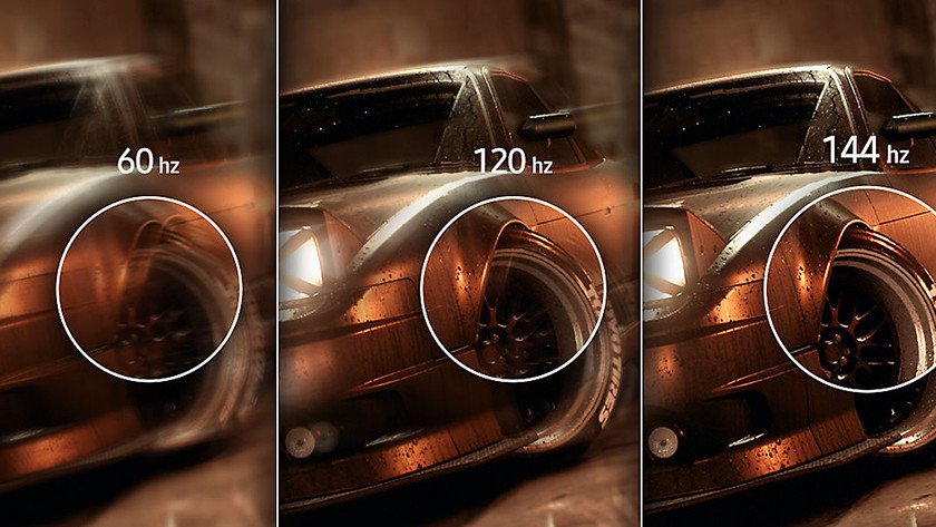 Advantages of a high refresh rate
