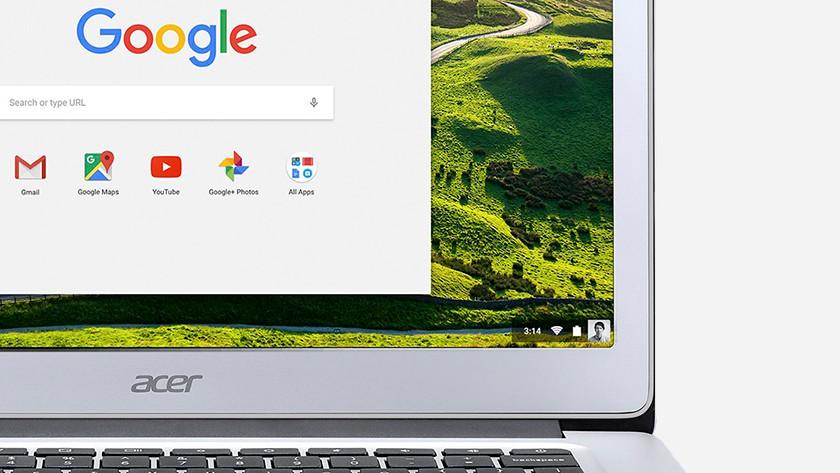 Het beeldscherm van een Acer Chromebook.