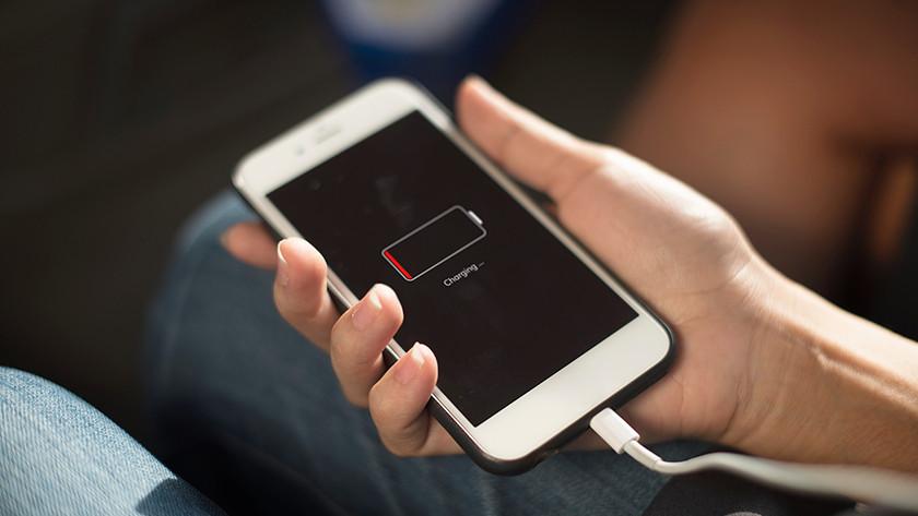 Batterie vide smartphone