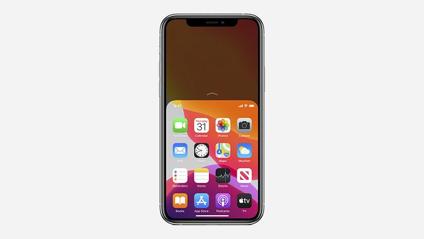 Apple iPhone 11 Pro Max bovenkant scherm halveren