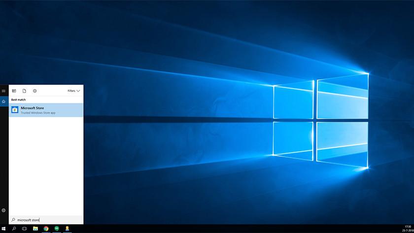 Microsoft Store in startmenu Windows 10.