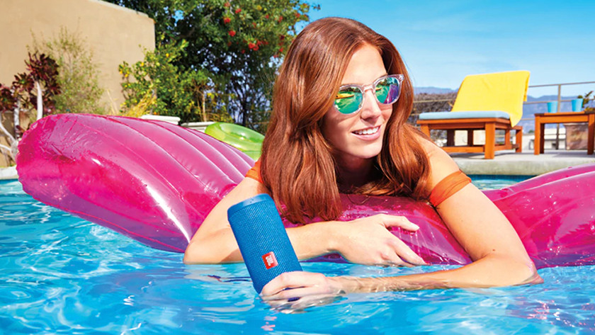 Speaker in the swimming pool