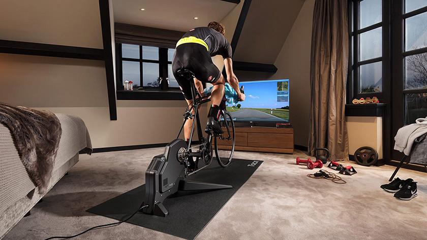 Geluid fietstrainer beperken