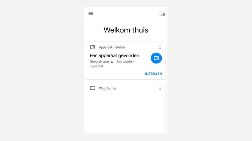 Google Home app met Google Home Mini