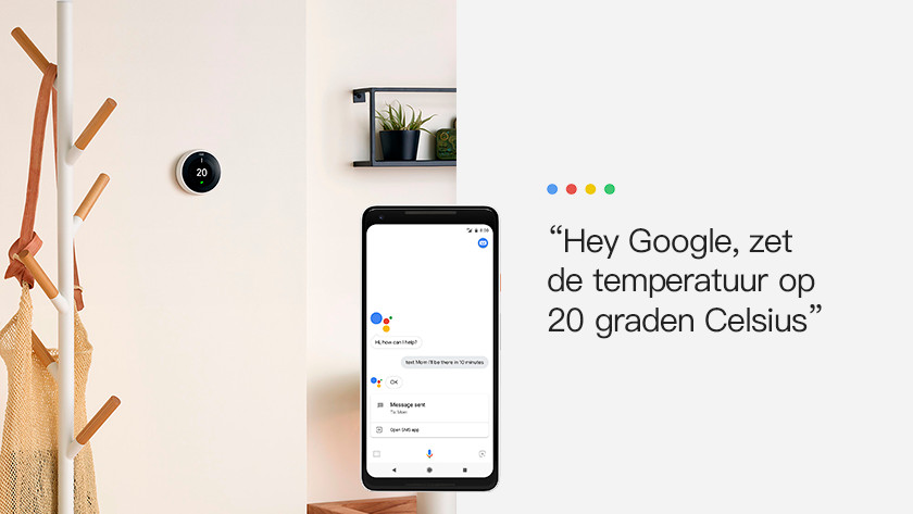 What can I do with the Nest thermostat and Google Assistant