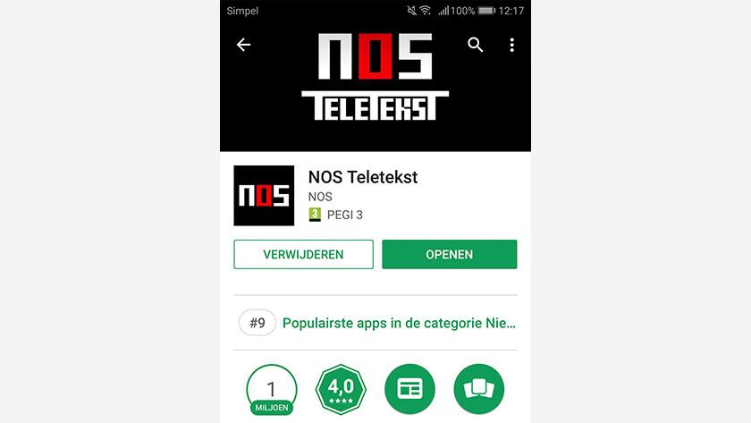 NOS Teletext app
