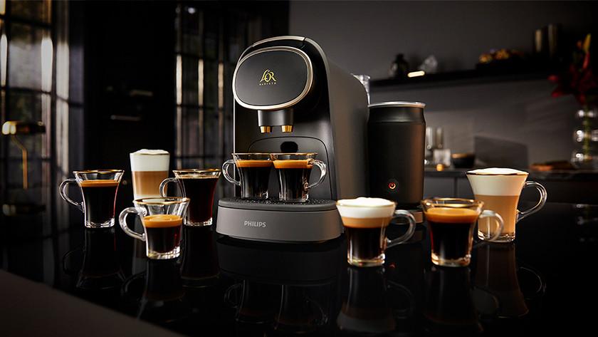 Cappuccino's maken met een L'Or Barista