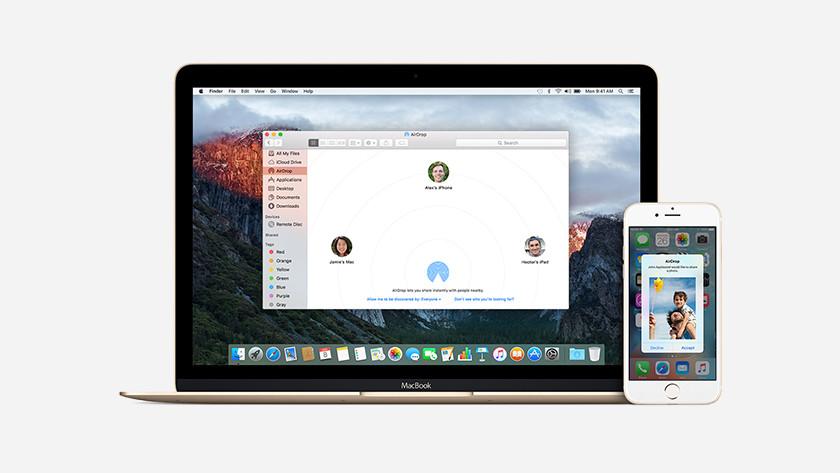 Apple iPhone Bestanden delen met Apple MacBook