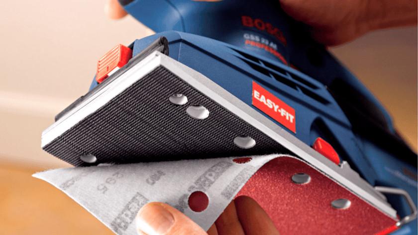 Sandpaper fastening