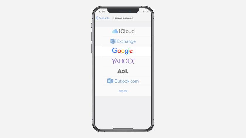 Kies voor 'Google' en log in zoals aangegeven