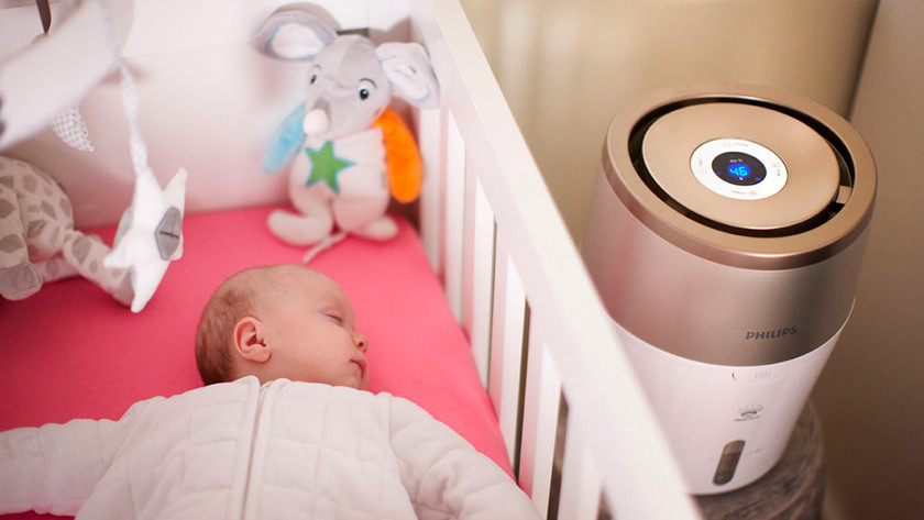 Humidifier in the baby room