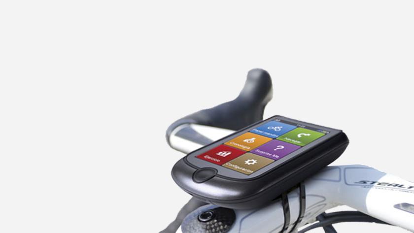 Fietsnavigatie op fiets