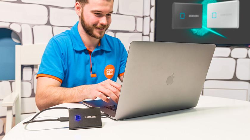 Samsung T7 touch werkt met Windows, MacOS en Android