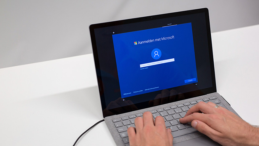 Account instellen Windows 10S setup.