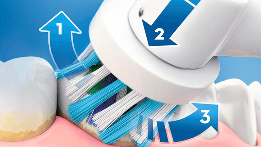 Éliminer la plaque dentaire avec une brosse à dents rotative