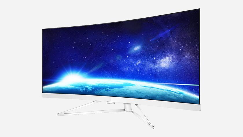 Curved screen beeldscherm beeld 2 schermen dual ultrawide monitor 16:9 grootte