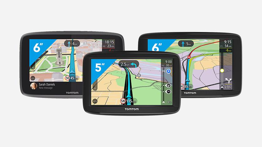 Verschillende TomTom navigatiesystemen