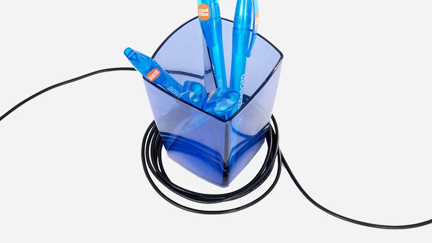 Berg het overtollige deel van je kabel netjes op