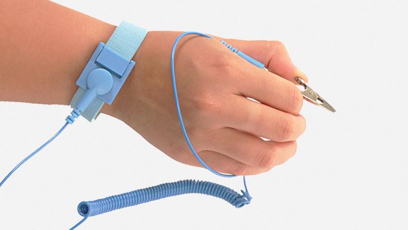 Antistatische armband.